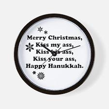 Merry-BKXmas.png Wall Clock