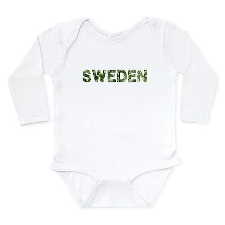 Sweden, Vintage Camo, Long Sleeve Infant Bodysuit
