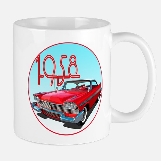 1958 Plymouth Belvedere-C10trans Mugs
