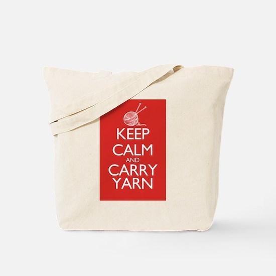 Cute Keep calm and carry yarn Tote Bag
