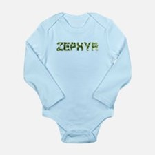 Zephyr, Vintage Camo, Long Sleeve Infant Bodysuit