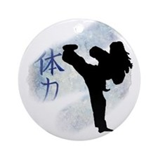 Round Kick 2 Ornament (Round)