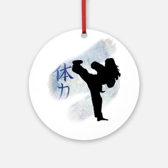 Round Kick 2 Ornament (Round)