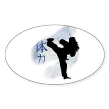 Round Kick 2 Oval Decal