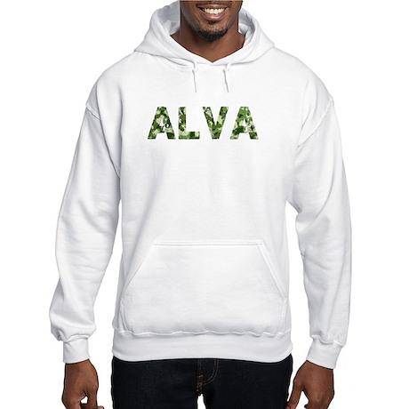 Alva, Vintage Camo, Hooded Sweatshirt