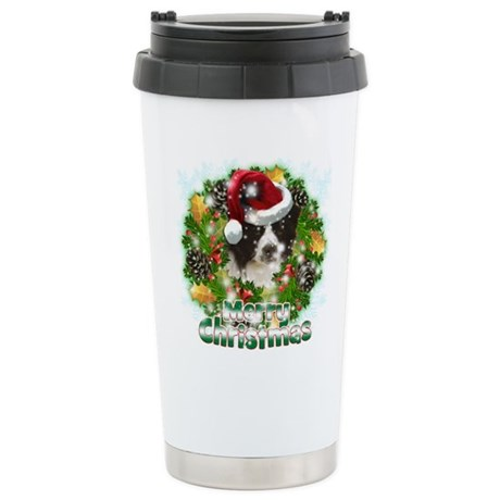Merry Christmas Border Collie.png Stainless Steel