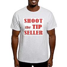 Shoot the Tip Seller Ash Grey T-Shirt