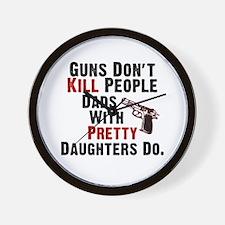 Guns Dont Kill People Wall Clock