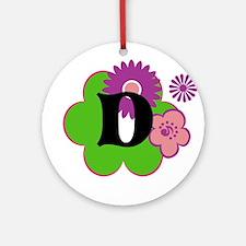 Letter D Ornament (Round)