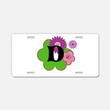 Letter D Aluminum License Plate
