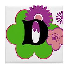 Letter D Tile Coaster
