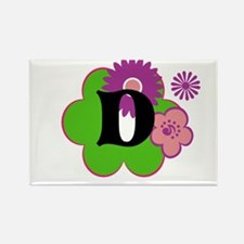 Letter D Rectangle Magnet