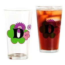 Letter D Drinking Glass