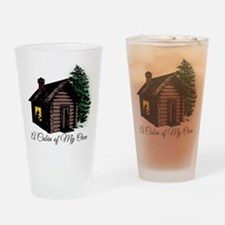 A Cabin of My Own Drinking Glass