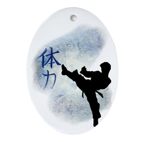Power Kick 2 Oval Ornament