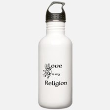 love is my religion Water Bottle