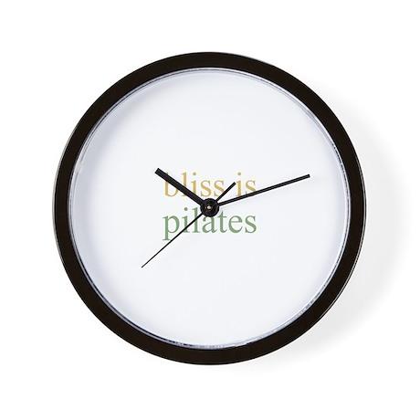 bliss is PILATES Wall Clock