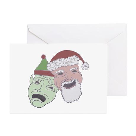 Santa & Elf Christmas Cards (Pk of 10)