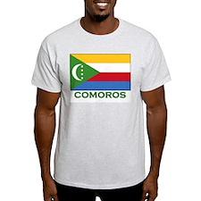 Comoros Flag Gear Ash Grey T-Shirt
