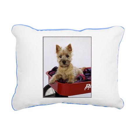 Baby Cairn Terrier Rectangular Canvas Pillow