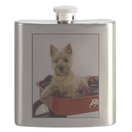 Baby Cairn Terrier Flask