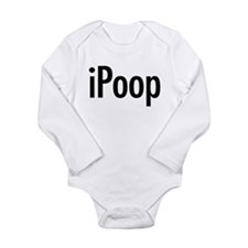 Cute Ipoop Long Sleeve Infant Bodysuit