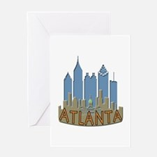 Atlanta Skyline Newwave Beachy Greeting Card