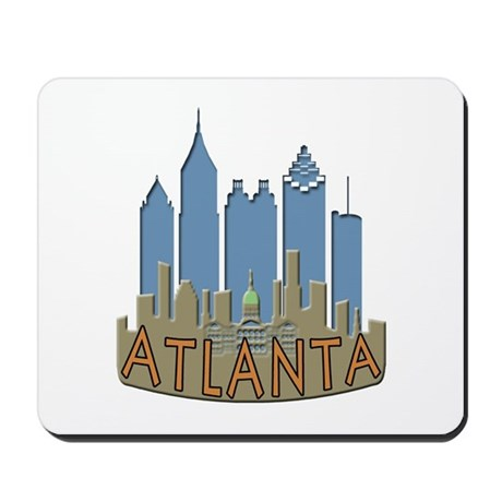Atlanta Skyline Newwave Beachy Mousepad