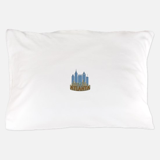 Atlanta Skyline Newwave Beachy Pillow Case
