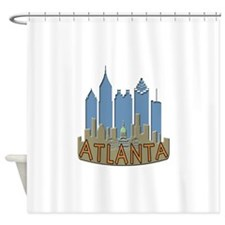 Atlanta Skyline Newwave Beachy Shower Curtain