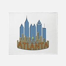 Atlanta Skyline Newwave Beachy Throw Blanket