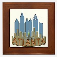 Atlanta Skyline Newwave Beachy Framed Tile