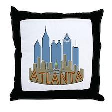 Atlanta Skyline Newwave Beachy Throw Pillow