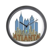 Atlanta Skyline Newwave Beachy Wall Clock