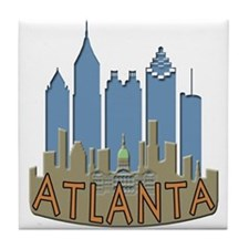 Atlanta Skyline Newwave Beachy Tile Coaster