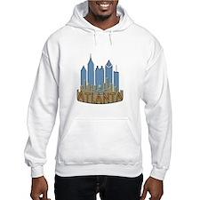 Atlanta Skyline Newwave Beachy Hoodie
