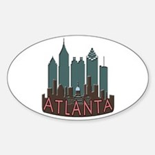 Atlanta Skyline Newwave Chocolate Decal