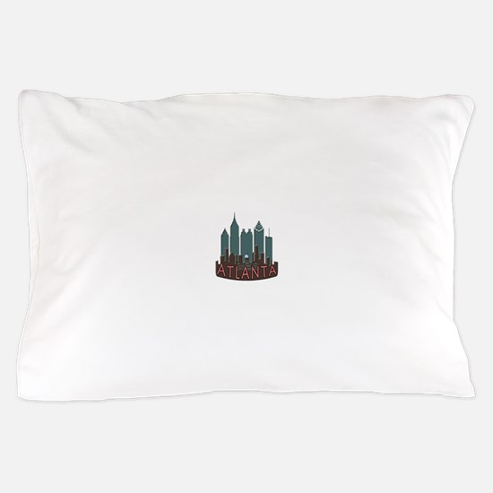 Atlanta Skyline Newwave Chocolate Pillow Case