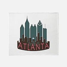 Atlanta Skyline Newwave Chocolate Throw Blanket