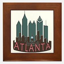 Atlanta Skyline Newwave Chocolate Framed Tile