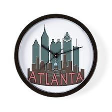 Atlanta Skyline Newwave Chocolate Wall Clock