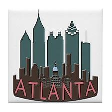 Atlanta Skyline Newwave Chocolate Tile Coaster
