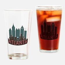 Atlanta Skyline Newwave Chocolate Drinking Glass