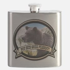 Cute Grizzly bear Flask