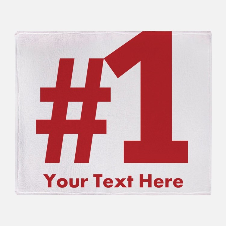 number one Throw Blanket
