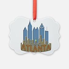 Atlanta Skyline Newwave Beachy Ornament