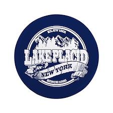 "Lake Placid Old Circle 3.5"" Button"