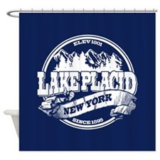 Lake Placid Old Circle Shower Curtain