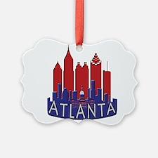 Atlanta Skyline Newwave Patriot Ornament
