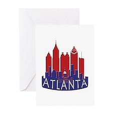 Atlanta Skyline Newwave Patriot Greeting Card